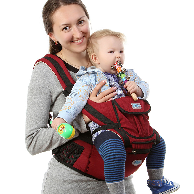 Acheter Porte bébé Ergonomique Infantile Bebe Sac À Dos Avec Siège Pour  Hanche Hipseat Infantile Garçon ... 513da1ac3bd