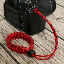 Регулируемый ремешок на запястье для камеры плетеный шнур paracord