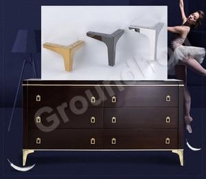 Image 3 - 4Pcs Altezza 10.2/13.6/15.2/16.8CM Divano Sedia Gambe Armadio Armadio Mobili Gamba Gambe Piedi con Viti
