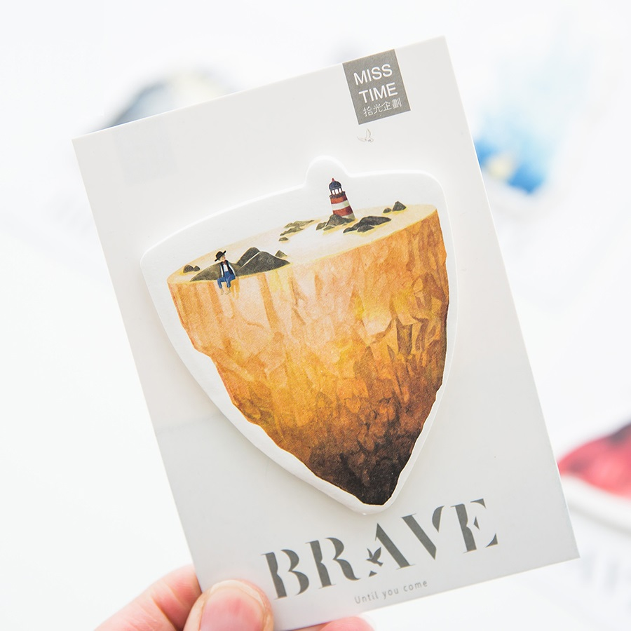 24 pcs/Lot Brave heart sticky notes and Memo pad Diary sticker Post planner Stationery Office accessories School supplies F621