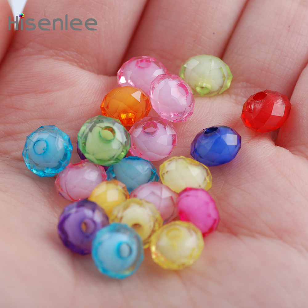 Mixed Colors 6mm 200pcs(38g) Austria Faceted Acrylic Beads Loose  Beads For Handmade Beading Toy
