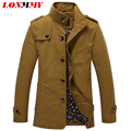 LONMMY M-3XL 2016 Bomber jackets for men Jaqueta masculina Male coat Brand clothing Slim Army Military Casual jackets mens coat