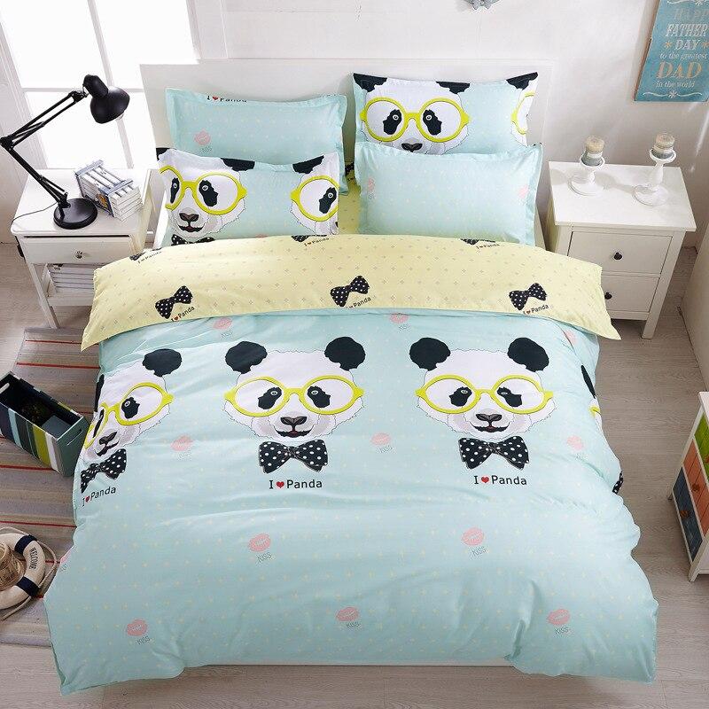 panda Bedding set Cotton bed sheet duvet cover pillowcases queen/ super king-linen housse de couette adultepanda Bedding set Cotton bed sheet duvet cover pillowcases queen/ super king-linen housse de couette adulte