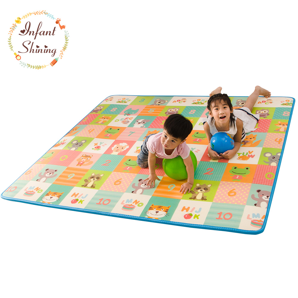 Infant Shining Baby Play Mat Floor XPE 2CM Thick Foam 200*180cm Carpet Crawling Pad Living Room Home Mat Large Rug for Children living room rug carpet for kids baby play mat 180 200 2cm children developing rug puzzle thickend foam coral velvet