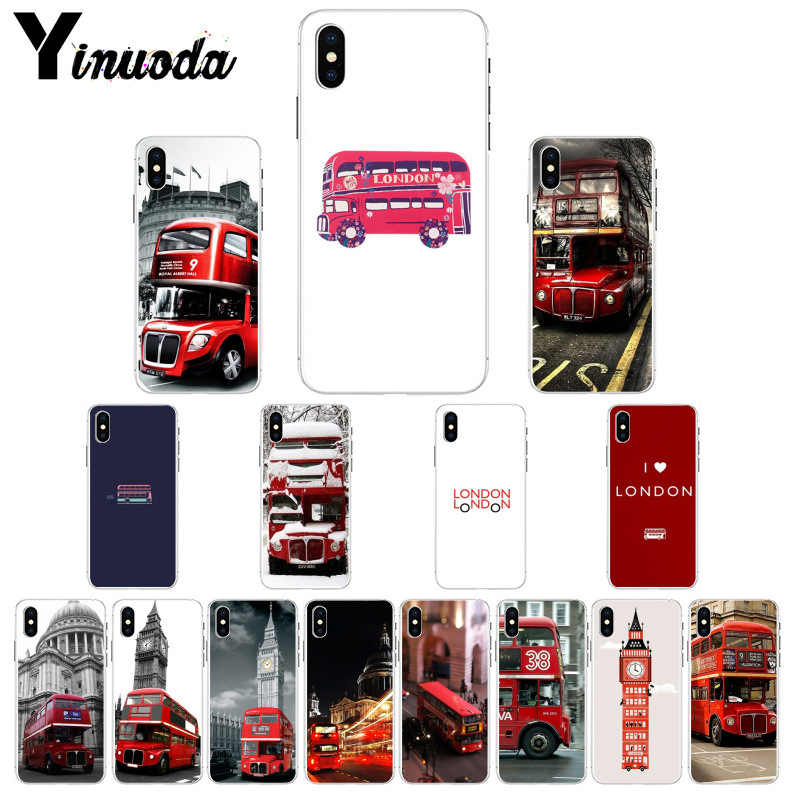 Yinuoda london bus england Customer High Quality Phone Case for iPhone X XS MAX 6 6S 7 7plus 8 8Plus 5 5S XR