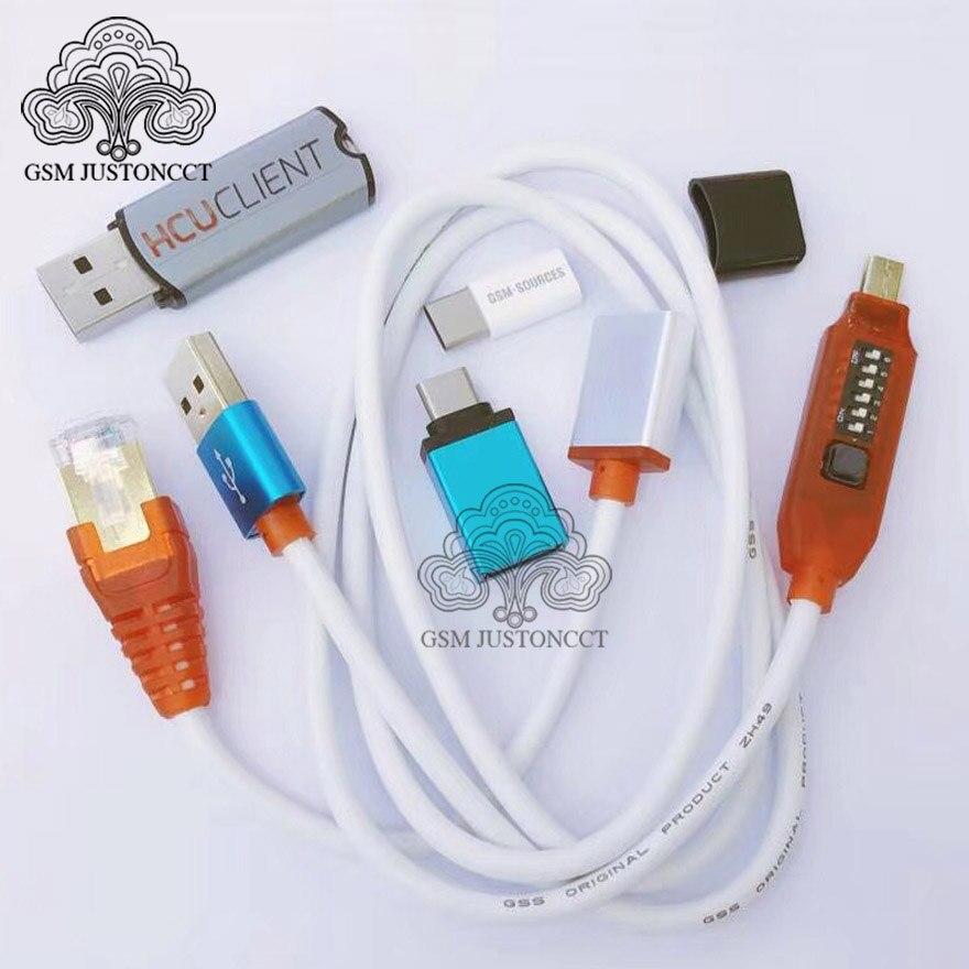 2019 новые HCU ключ + DC Феникс телефон конвертер для huawei с микро USB RJ45 Многофункциональный загрузки все в одном кабеле