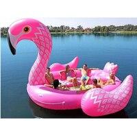 5 м огромные надувные единорог Фламинго бассейна Фламинго yacht бассейн плавать плот гостиная летний бассейн для Вечерние Бесплатная доставк