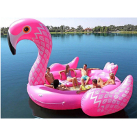 5M huge Inflatable Unicorn Flamingo Pool Float flamingo yacht Swimming Float Lounge Raft Summer Pool for Party free shipping