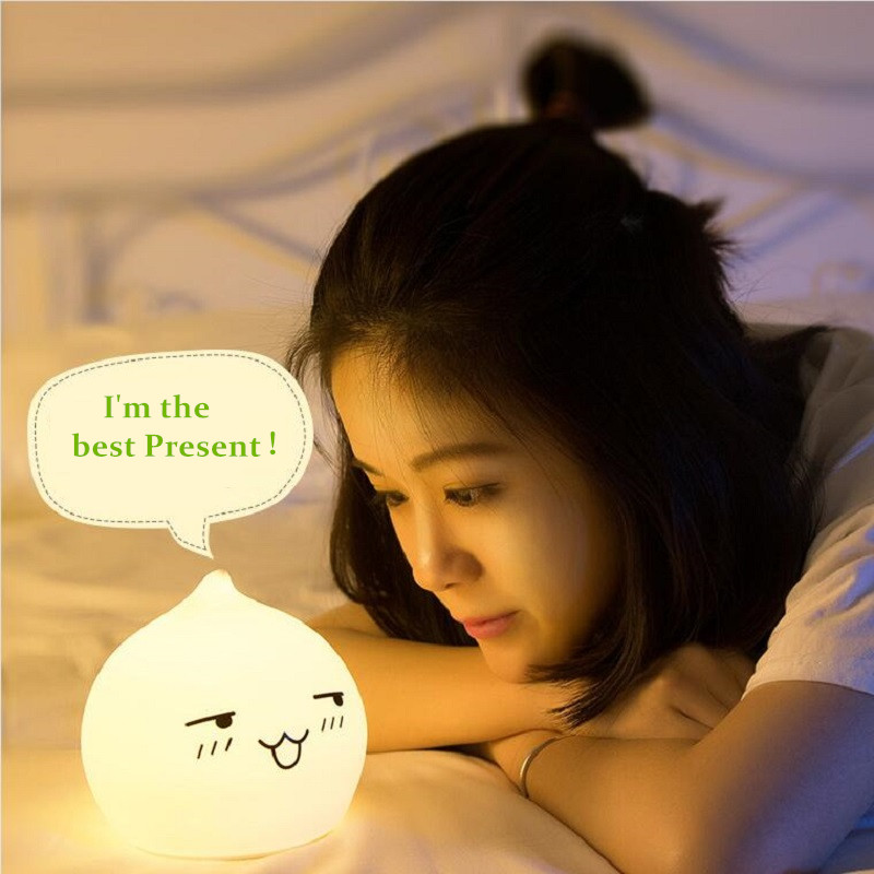 Premium 7 Colors Droplet LED Children Animal Night Light Silicone Soft Cartoon Baby Nursery Lamp Breathing LED Night Light