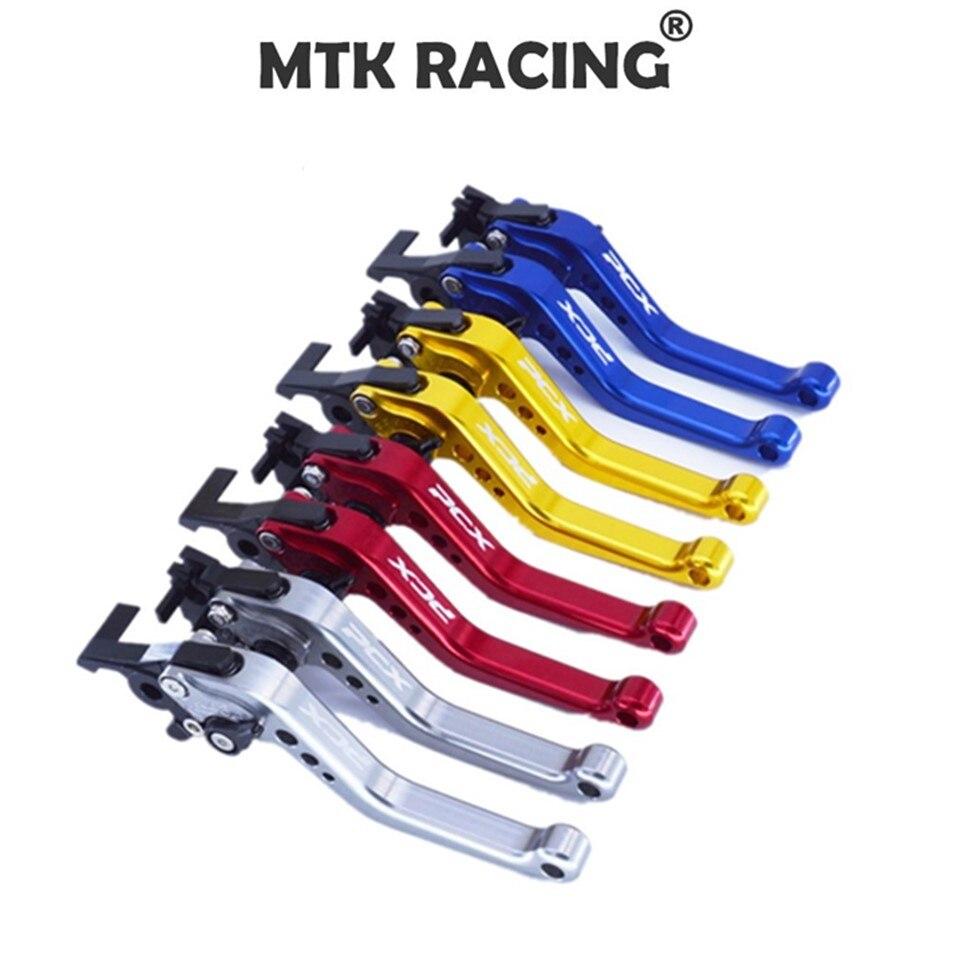 MTKRACINGショートクラッチブレーキレバーforホンダPCX 125/150全ての年CNCショート14.5cm CNCアルミホンダPCX