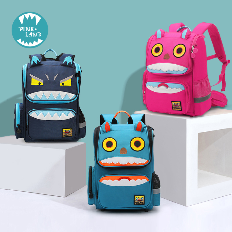 Fashionable and comfortable children's school bag boys 1-3-4-6 years old girl 6-12 years old backpack
