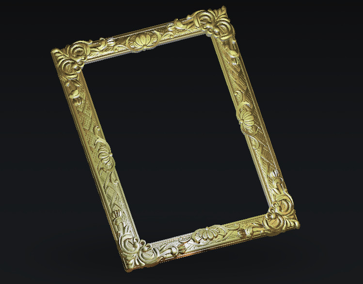 Digital Frame Decor 3d Model Relief For Cnc Carving Engraving In STL File Format Artcam Type3 Aspire E98