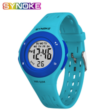 SYNOKE Student Childrens Watch Kids Led Fashion Sports Watches  Waterproof For relogio infantil menina digital