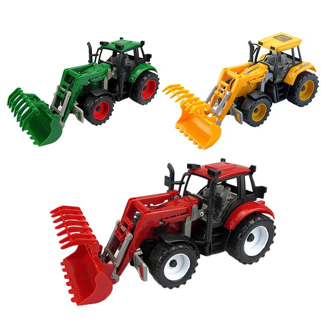 Feliz de la cereza niños kids lindo carro de la construcción toys regalos de la ducha partido mini tractor modelo cars juguete para bebé muchachas de los muchachos
