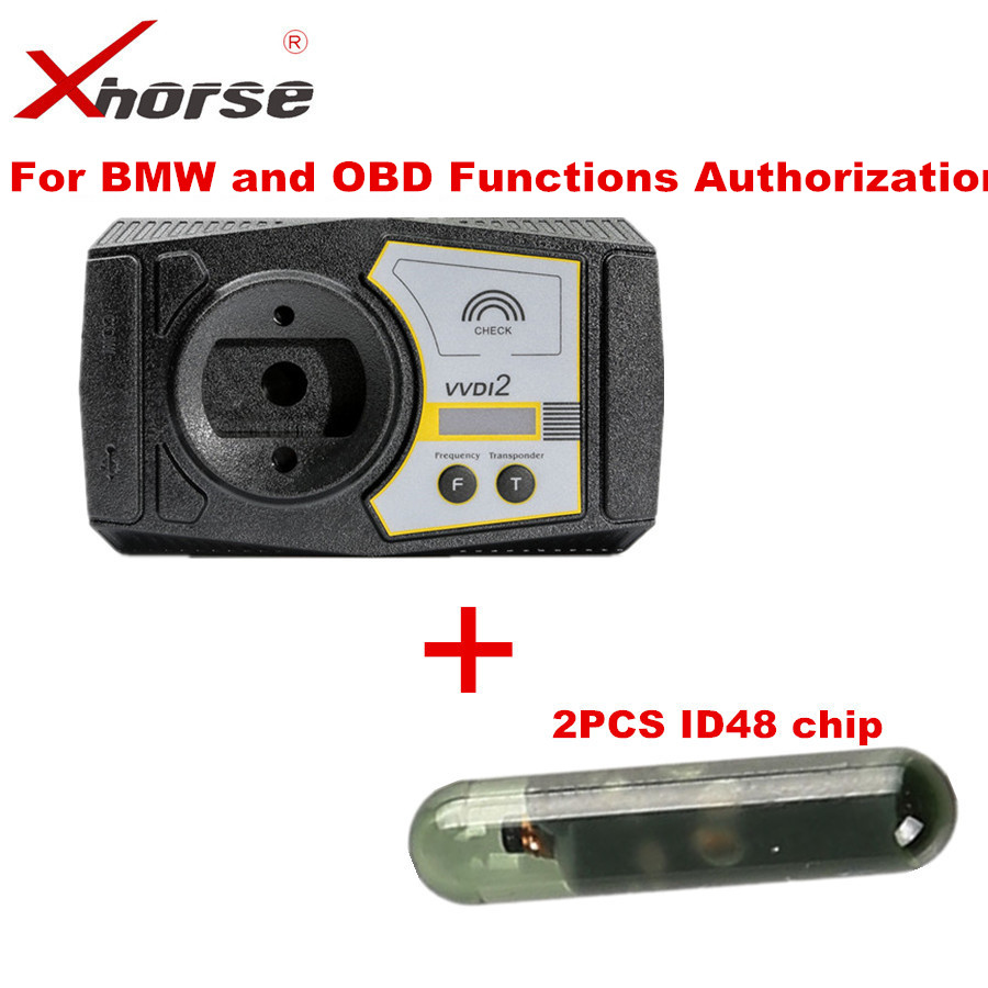 Xhorse VVDI2 For BMW and OBD Functions Authorization Plus 2PCS ID48 Chip original xhorse vvdi2 commander key programmer with basic bmw and obd functions