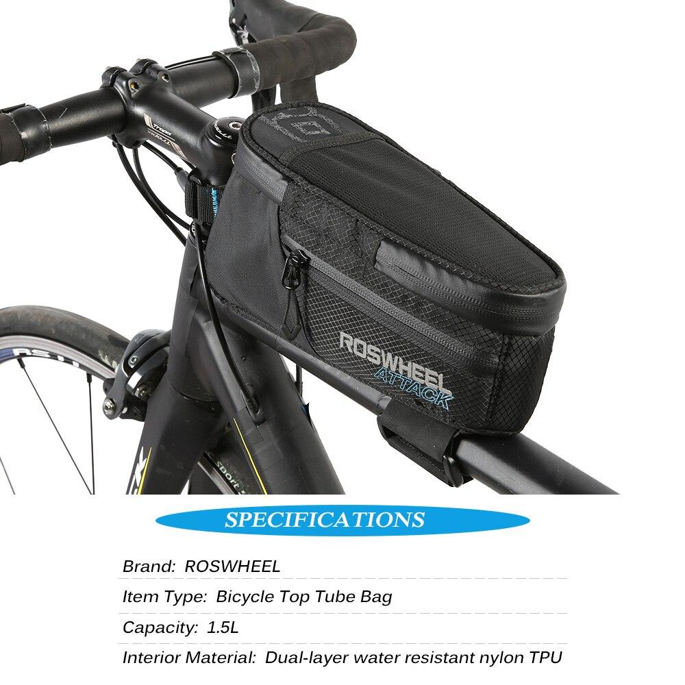 ROSWHEEL Vélo Top Tube Sac Sport En Plein Air Vélo Sac Résistant À L'eau De Bicyclette De Vélo Avant Cadre Sacoche Sac