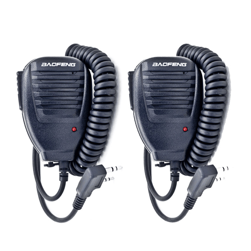 2 Pz BAOFENG Speaker Microfono per Pofung UV-5R UV-5RE GT-UV-BF-F8 KD-C1 AP-100 TK-2206 TK-BF-B5 UV-B6 Radio