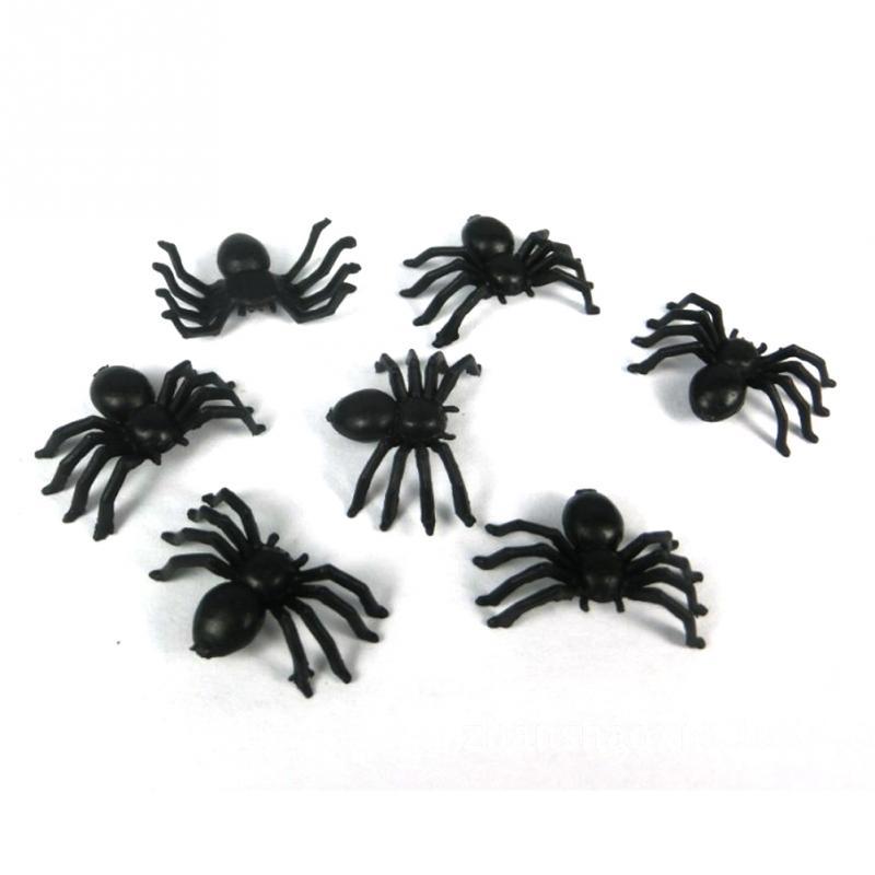 50Pcs//Lot Halloween Plastic Black Ants Joking Toys Decoration Realistic Funny P0