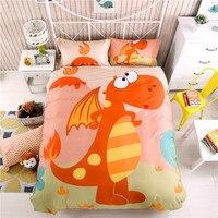 Cartoon Dinosaur Bedding Set For Kids Boys Children Twin Queensize Fit Sheet Bed Sheet Set