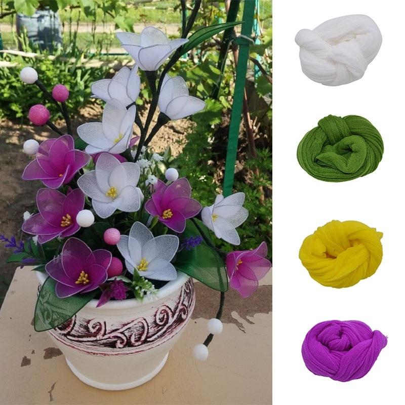 Approx1.5-1.8m twin colors nylon flower stocking making accessory handmade diy c