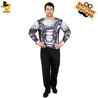 New Arrival Long Sleeve Robot T shirt Fancy Top Clothes Adult Men's Robot T shirt for Carnival Roleplay Costumes