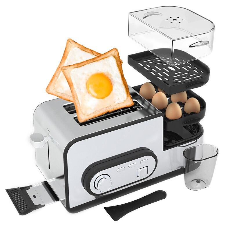 Breakfast Toasters Multifunction Egg Toaster Automatic Fast Heating Bread Toaster Sandwich Breakfast Maker Kitchen Appliances