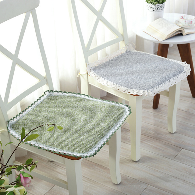 Breathable Thin Dining Chair Cushion With Rope Weave Seat Mat Pad Stoop Floor