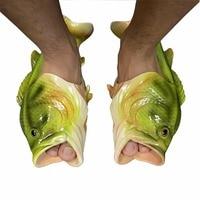 2017 Creative Type Fish Slippers Woman Handmade Personality Fish Sandals Women Bling Flip Flops Slides Fish