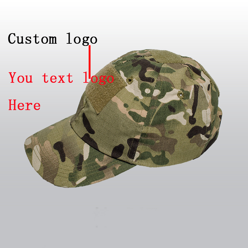 c1a002b5 Custom Logo Camouflage Baseball Caps Men Women Plain Blank Camouflage  Baseball Cap Outdoors Sports Casual Cotton Hats Gorras-in Baseball Caps  from Men's ...