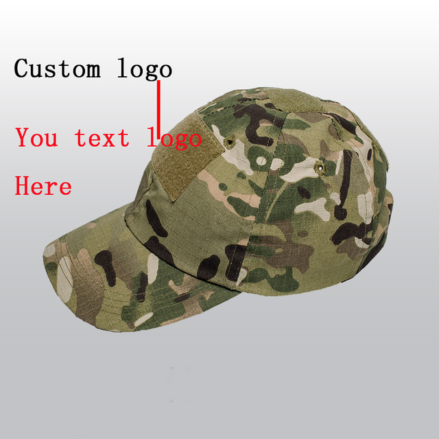 1f49fd2a34fd9 Custom Logo Camouflage Baseball Caps Men Women Plain Blank Camouflage  Baseball Cap Outdoors Sports Casual Cotton