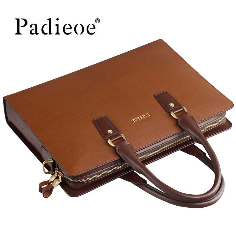 Business Briefcase Messenger-Bag Brown Handbag Computer Black Men's Luxury-Design Fashion