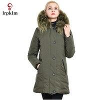 2018 New Large Size Women Winter Jackets Female Middle Long Fur Hooded Collar Parkas Women Warm