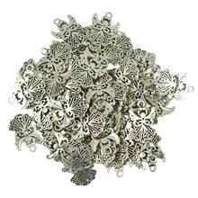 50 штук оптом Тибетский серебристый цвет филигрань полые амулеты