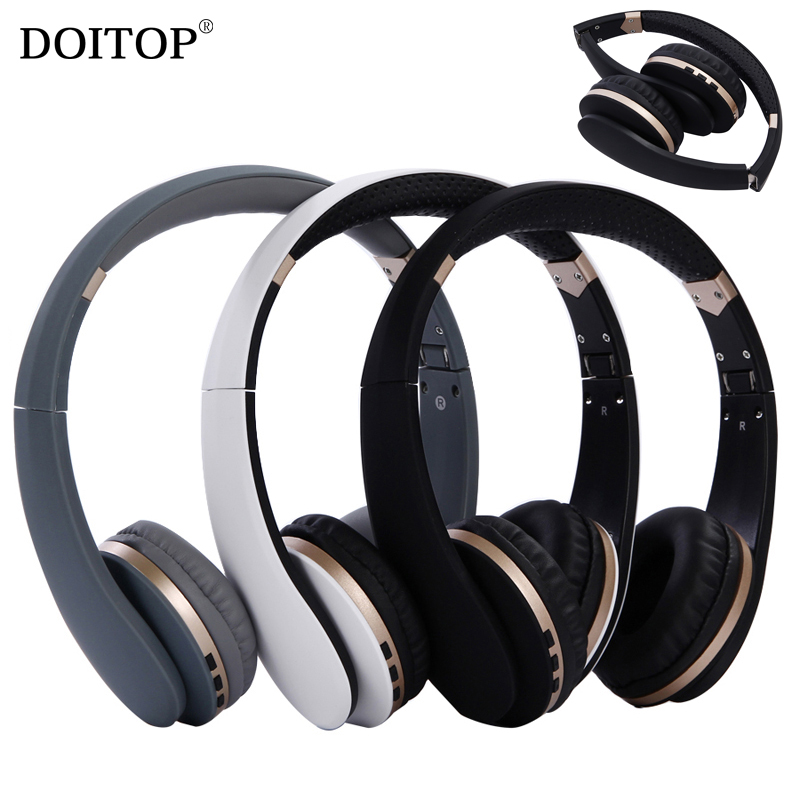 DOITOP Foldable Wireless Bluetooth Stereo Headphone HIFI Music Business Headset Headband Earphone 3.5mm MP3 Playing Headset O5 bluetooth earphone headphone for iphone samsung xiaomi fone de ouvido qkz qg8 bluetooth headset sport wireless hifi music stereo