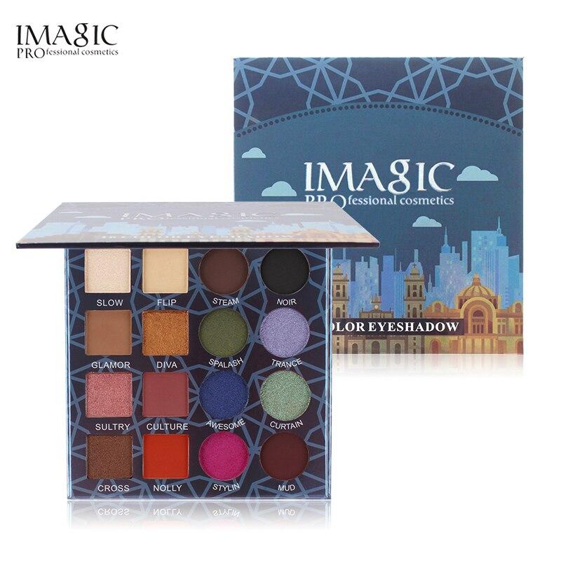 IMAGIC Professionelle Shimmer Matte Lidschatten Palette 16 Farben Natürliche Lidschatten Wasserdicht Anhaltende Gedrückt Kosmetische