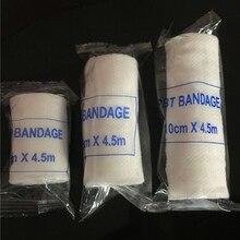 Elastik bandaj ilk yardım çantası gazlı bez rulo yara pansuman hemşirelik acil bakımı bandaj açık spor burkulma tedavisi