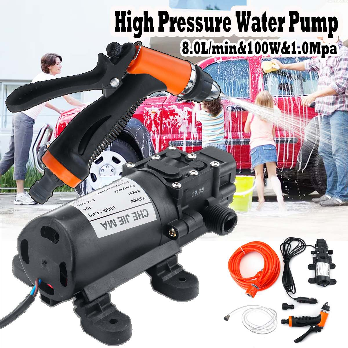 Car Washer Gun Pump High Pressure Cleaner Car Care 12V Portable Washing Machine Electric Cleaning Auto Device Self-priming Tool(China)