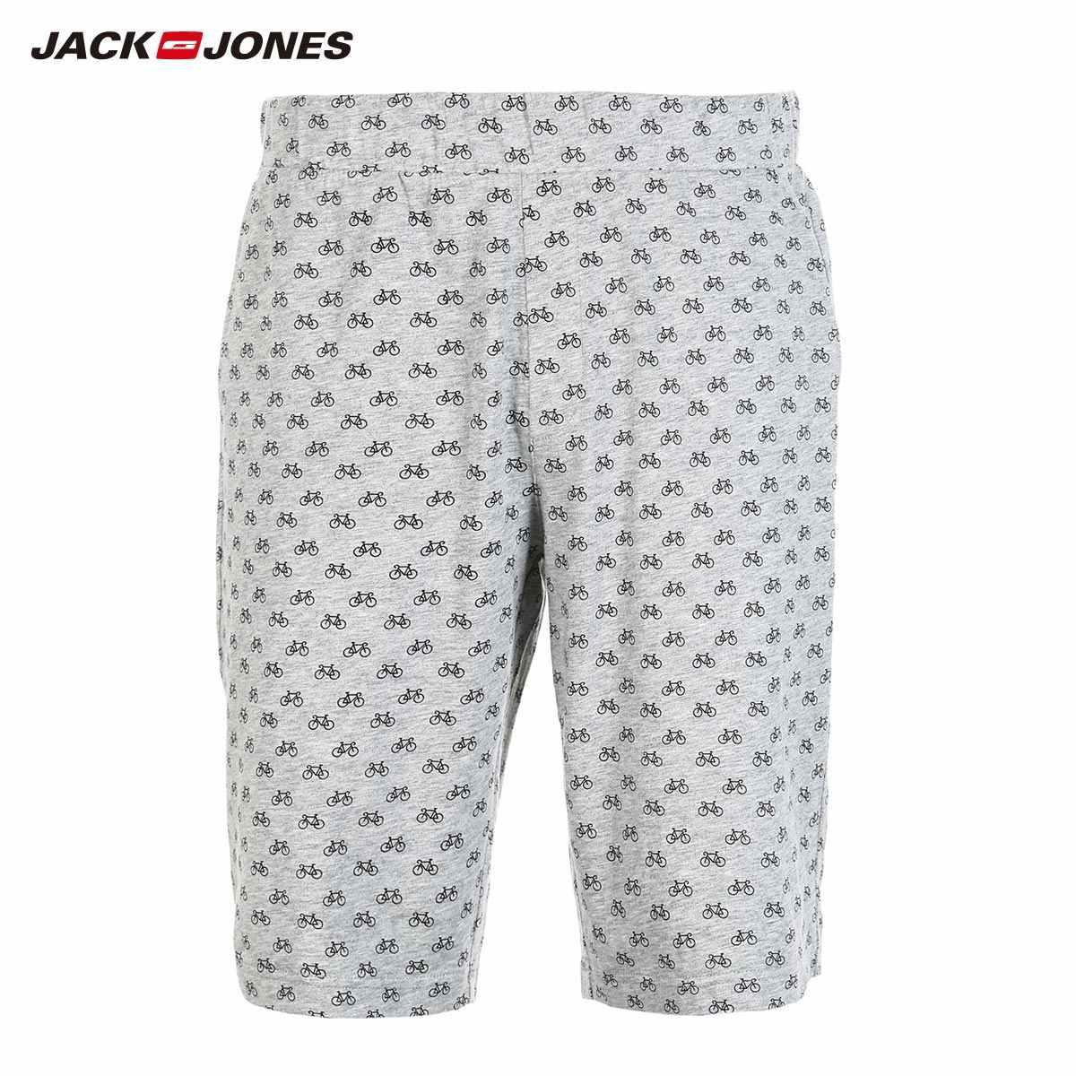 JackJones мужские трикотажные шорты с принтом Домашняя одежда Удобная Пижама простая свободная Пижама пижамы Мужская одежда | 2181SH501