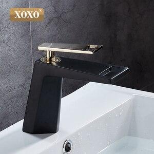 Image 2 - Смеситель для ванной XOXO 80015, черный/белый, водопад, одна ручка