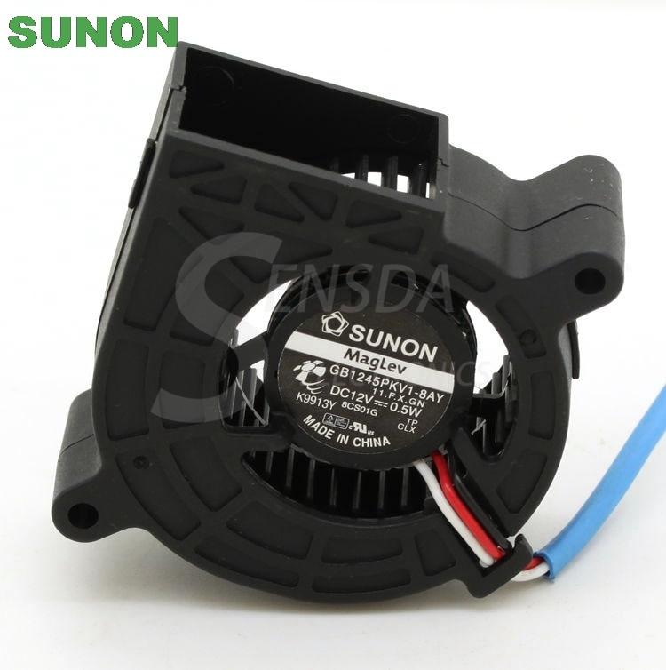 New Sleeve Bearing Blower Fan SUNON GB1245PKV1-8AY 11.F.X.GN 45*45*25mm 12V 0.5W
