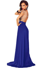 YC60809 Noble sleeveless maxi dress plus size open side split sexyparty dresses hollow out long dresses for evenings party