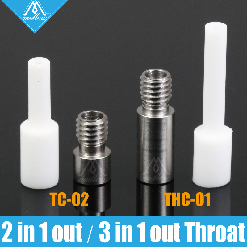 3D Printer Parts Ptfe Tube 2 In 1 Out 2 Colors Hotend TC-02 Hotend Throat/3 In 1 Out Multi-color 3 Colors Hotend THC-01 Pipe