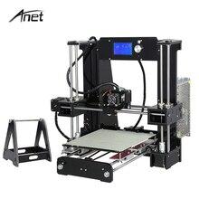 2017 Anet A6 A8 Kit de Impresora 3D de Gran Tamaño de Alta precisión Reprap Prusa i3 DIY Tridimensional 3D Printing Machine LCD pantalla