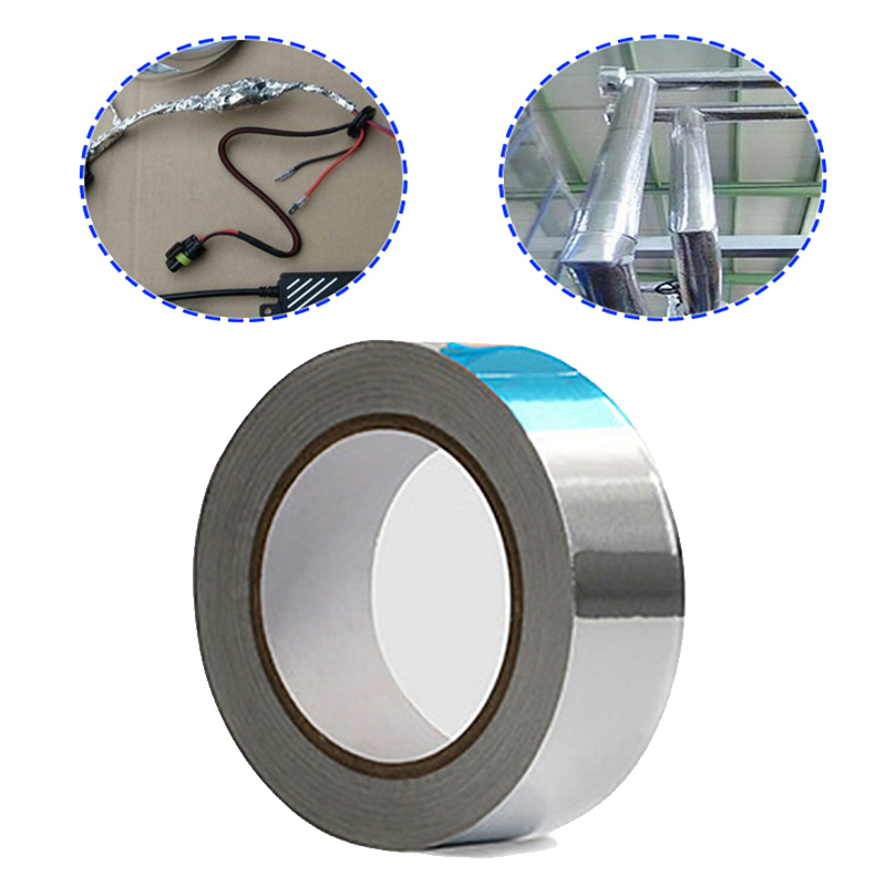 1Roll Chrome Aluminium Foil Tape Adhesive Reflector Car Stripe Roll Tape 3cm X 20m High Temperature Resistant Mayitr
