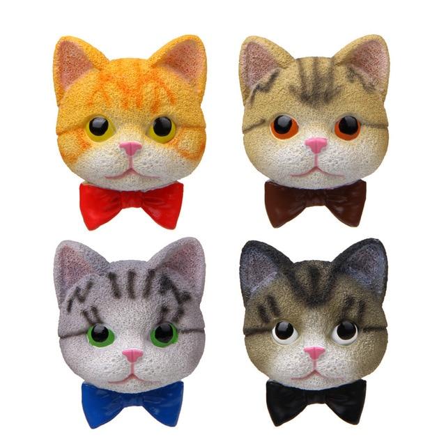 3D Tie Cat Gentleman Action Figure Magnet Cartoon Pattern Fridge Magnet Stickers Children Educational Toy Birthday Gift