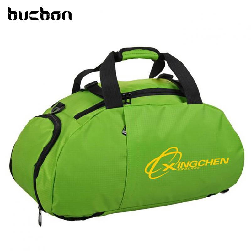 Bucbon Three-use Sports Bag Portable Shoulder Backpack Shoes Storage Men Women Training Fitness Gym Bag Travel Bagpack HAB071