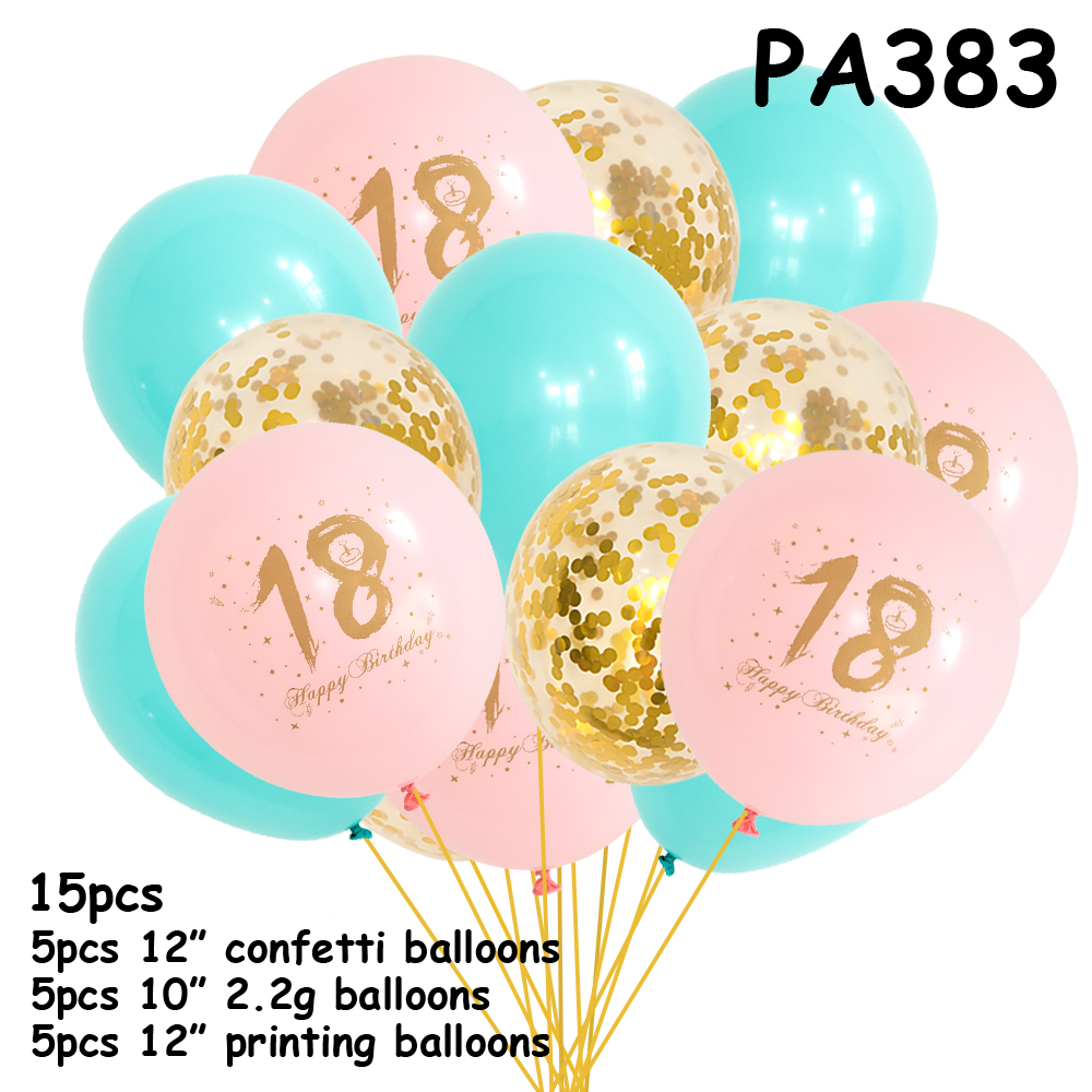 <font><b>18th</b></font> <font><b>Birthday</b></font> <font><b>Decoration</b></font> Balloons18 Years Latex Ballons <font><b>Birthday</b></font> Party <font><b>Decorations</b></font> Adult christening souvenir mint gold ballons image