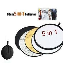 Отражатель 5-в-1(60 см) фотография светильник Многофункциональный разборный дисковый отражатель Ручка складной для фотографии аксессуары