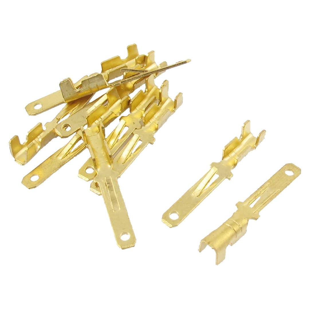 MYLB-男性スペード圧着端子配線コネクタ、 2.8 ミリメートル、ゴールドトーン、 10 ピース