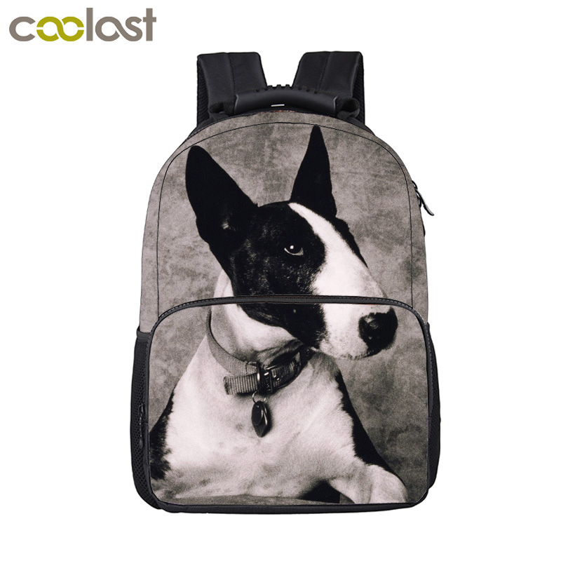 Puppy Dog Pit Bull Terrier / German Shepherd / Pug Backpack Women Men Travel Bags Boys Girls Children School Bags Kids Backpack